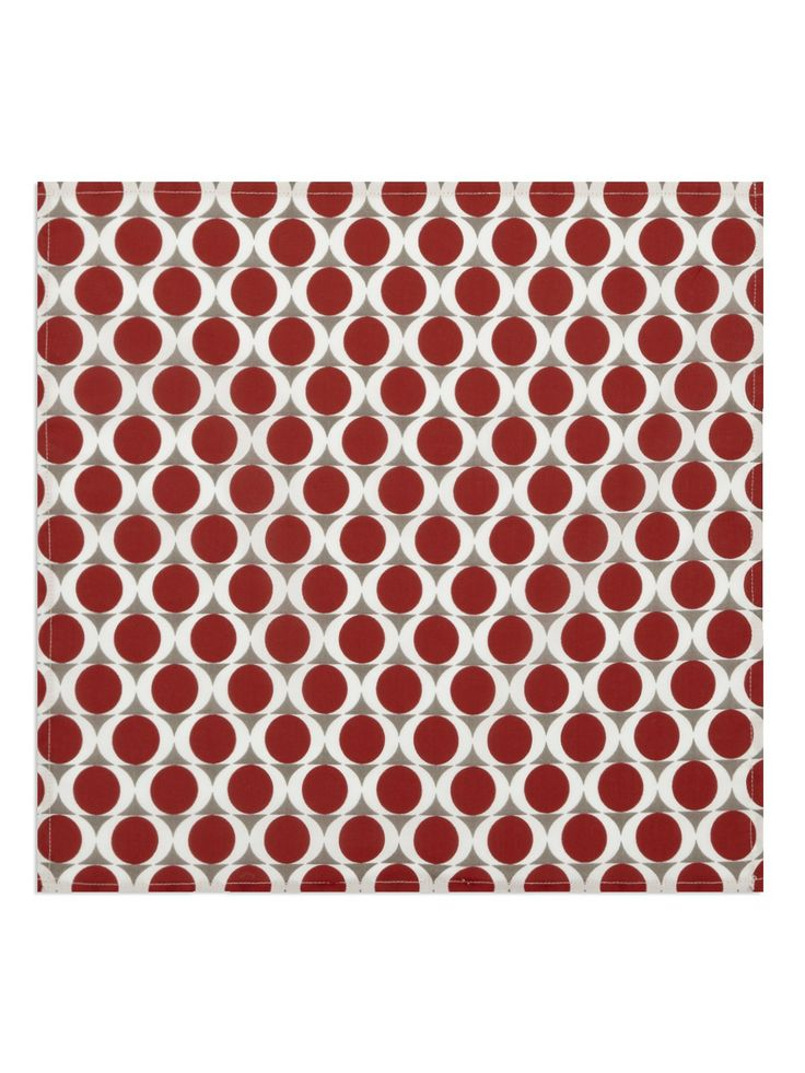 Red Geo Print Pocket Square | Pocket Squares / Scarves | Ben Sherman