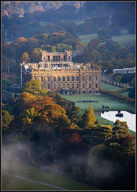 Chatsworth House, the setting for Mr. Darcy's home in the latest version of Pride and Prejudice.