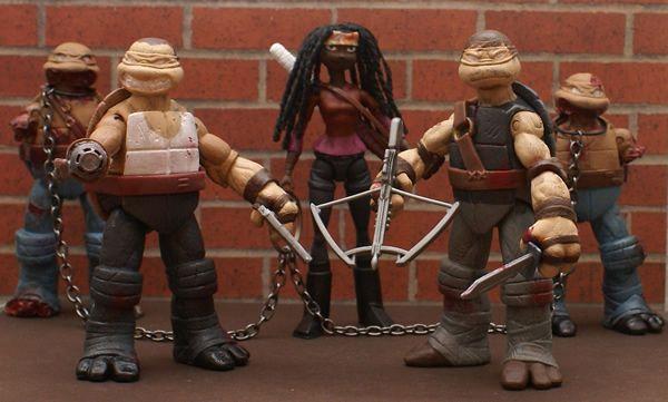 Walking Dead TMNT – Action figures das Tartarugas Ninjas transformados em personagens da série The Walking Dead