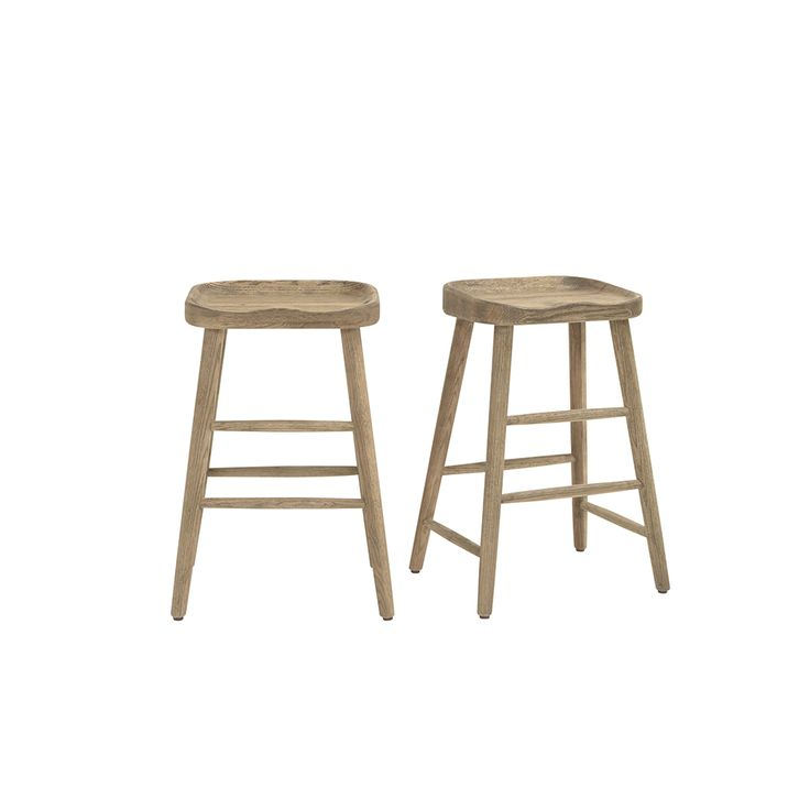 Perfect for all you loiterers out there! We know who you are: you can run but you can't hide. This solid oak bar stool is given a good sand-blasting for a lived-in feel.