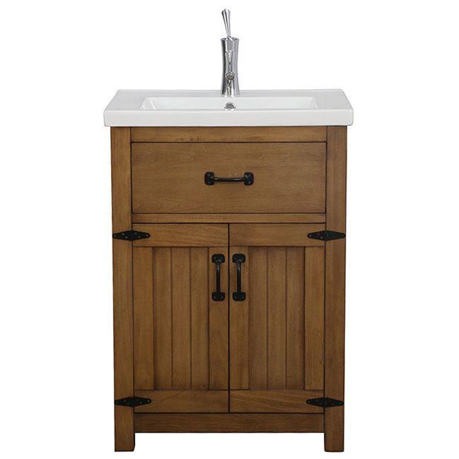 legion furniture 24 inch weathered light brown single sink on bathroom vanity cabinets clearance id=88629