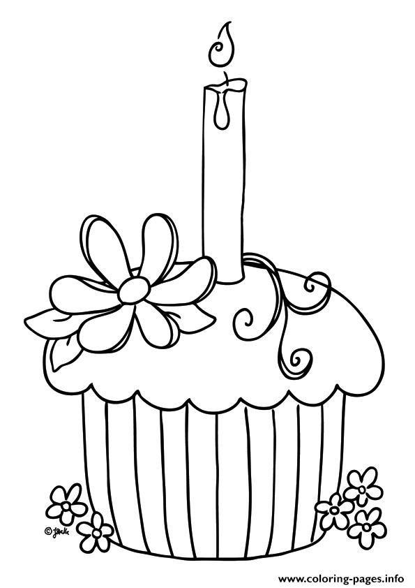 Birthday Cupcake Coloring Pages Cupcake Coloring Pages Birthday