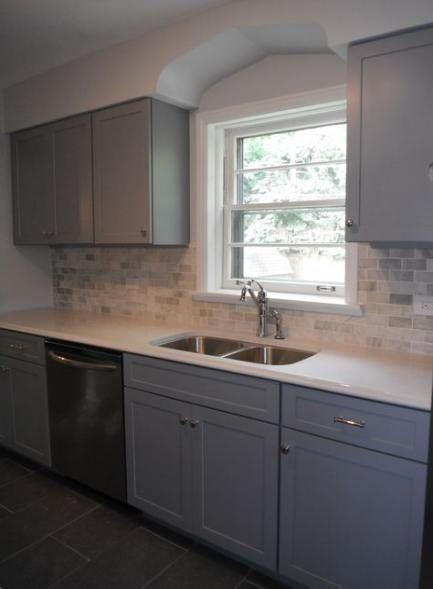 Best kitchen floor with white cabinets gray walls 54+ Ideas #kitchen