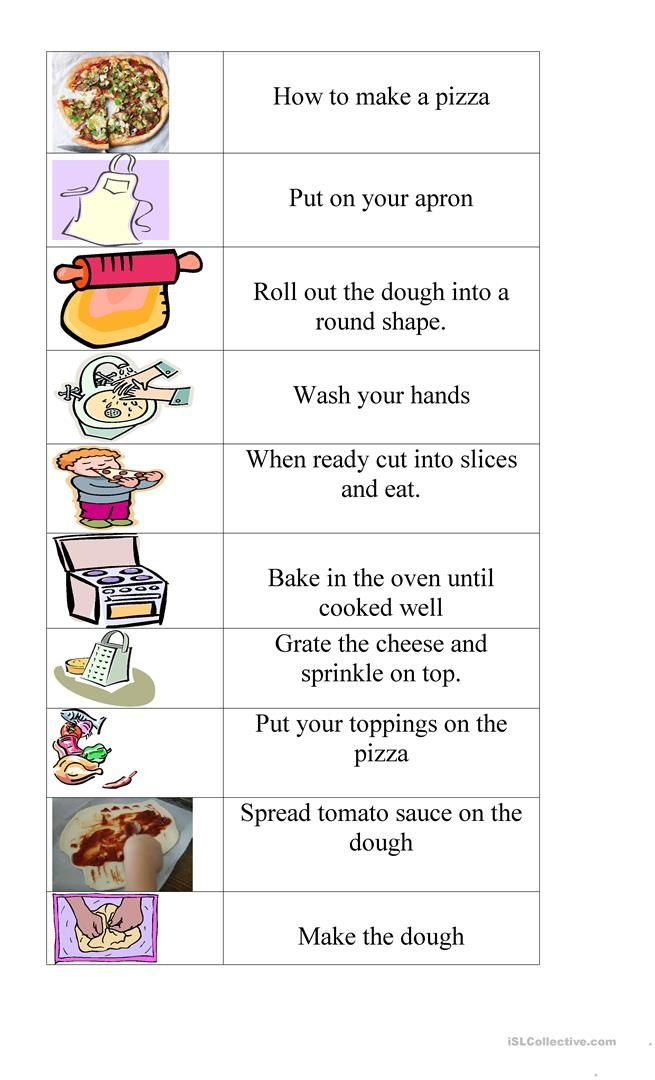 Worksheets Writing Recipes Pizza How To Make Pizza Pizza Recipes Pizza Basic cooking skills worksheets