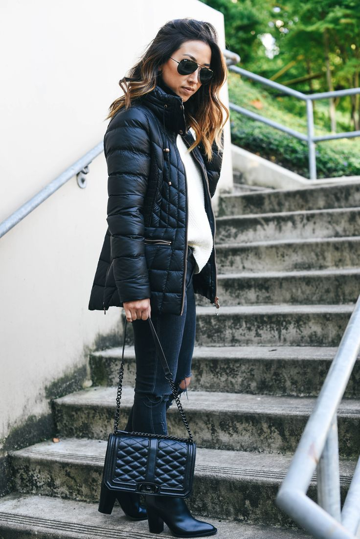 Crystalin-Marie wearing a Bernardo packable jacket