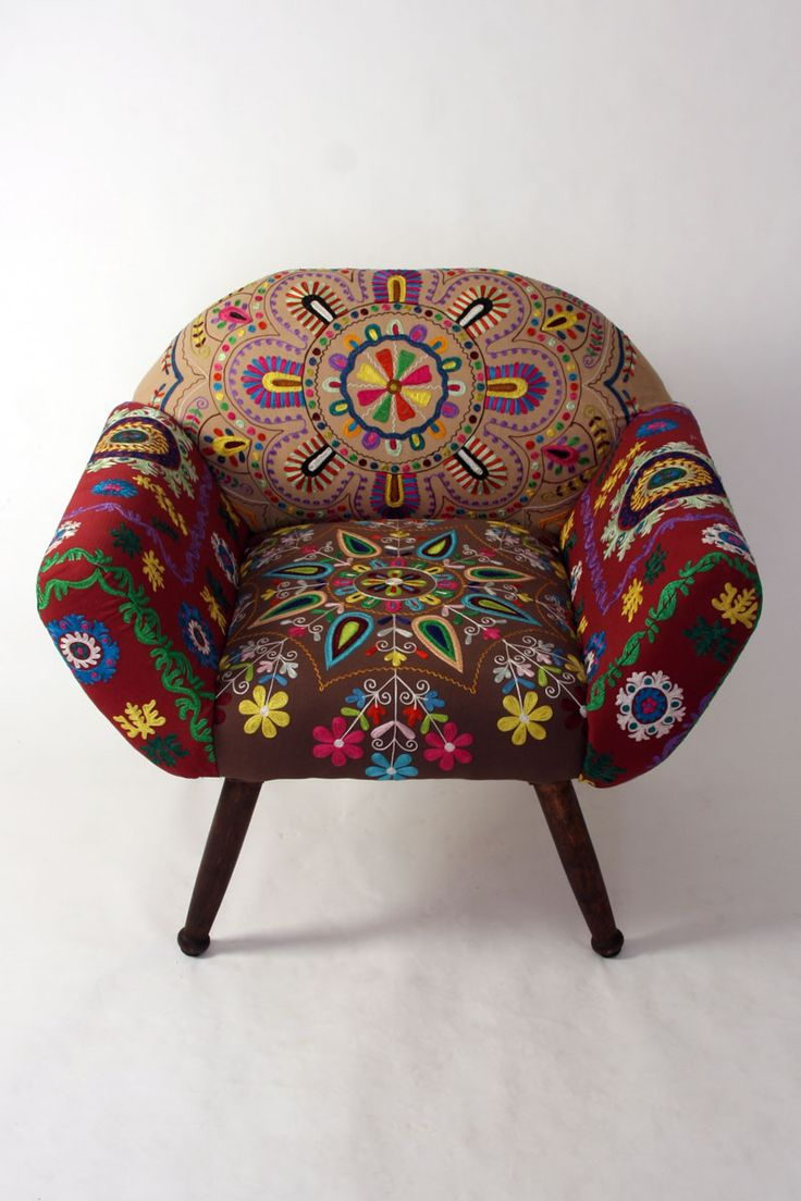 Wonderful embroidered Chair....