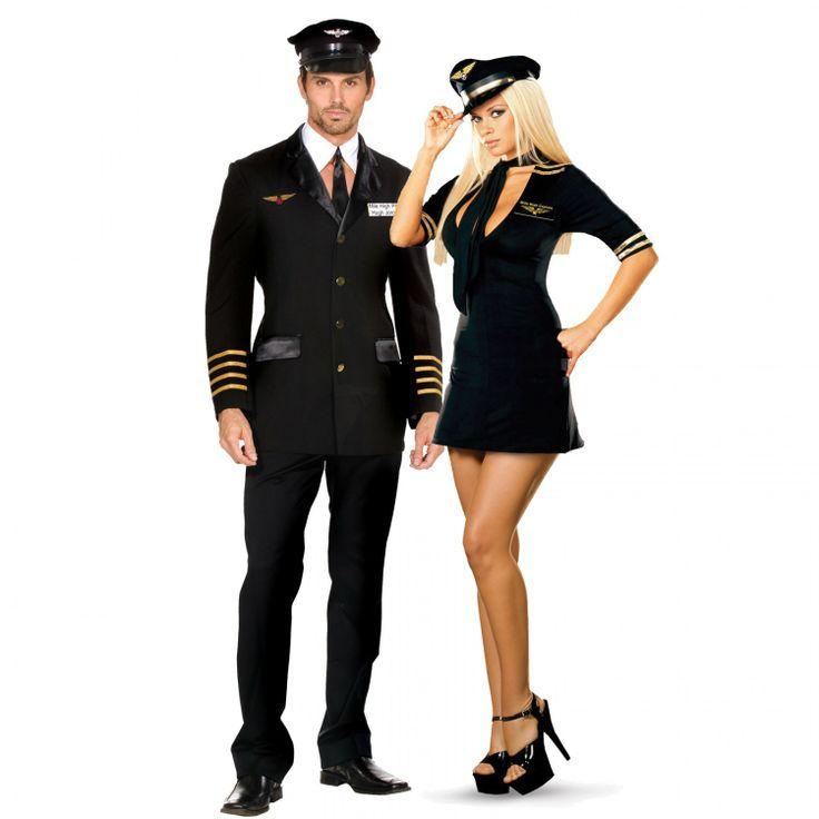 flight attendant couples costume