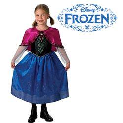 Costum de carnaval pentru fetite cu pelerina Printesa Anna