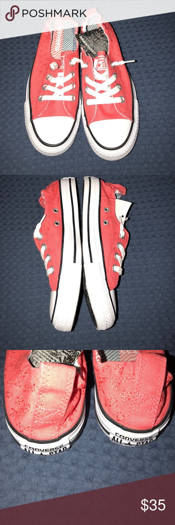NWT coral Converse Super cute slip on Converse! Coral color. Price is firm! Add to a bundle for a discount Converse Shoes Athletic Shoes