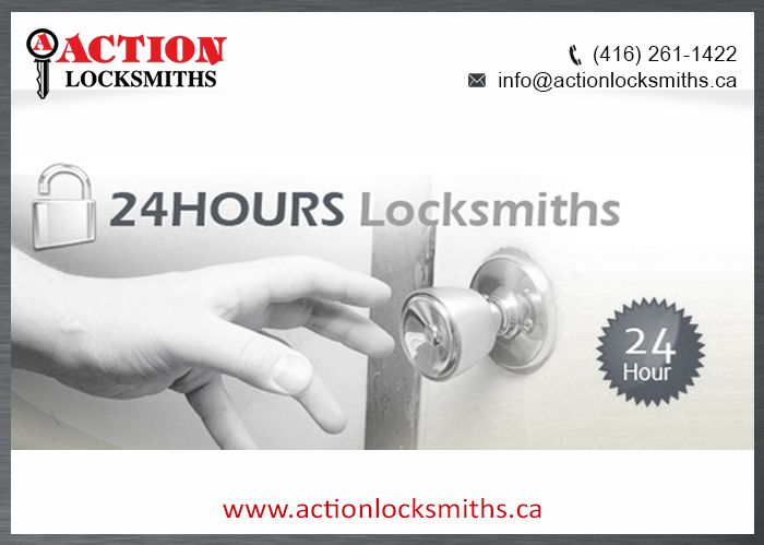 Action Locksmiths, the leading 24 hour locksmith services provider in Toronto, has adequate arrangements to solve locking & security problem.