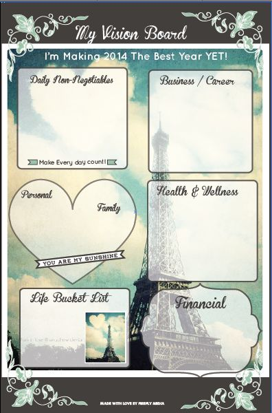 paris  visionboard and  goalsetting map