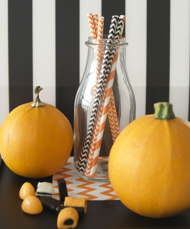 paper straw, Halloween, party ideas