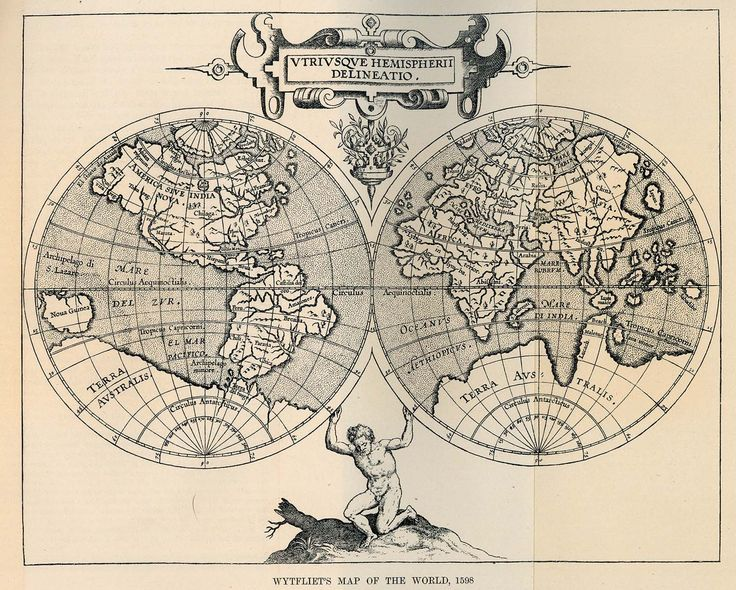 Wytfliet's Map of the World, 1598. From the Scottish Geographical Magazine, Vol. XVI, No. 1, 1900.