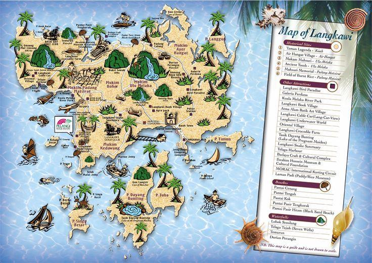 Carte touristique Langkawi