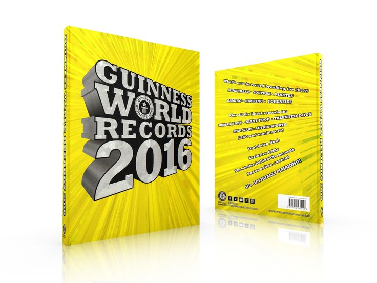 Guinness World Records 2016 cover from Oakley Creative