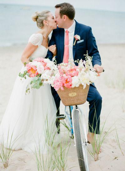 So sweet! http://www.stylemepretty.com/2015/05/13/preppy-gold-michigan-vineyard-wedding/ | Photography: Amanda Crean - http://www.amandacrean.com/