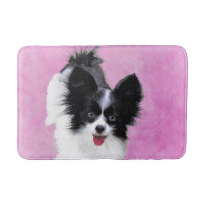 #Papillon (White and Black) Bath Mat - #Bathroom #Accessories #home #living