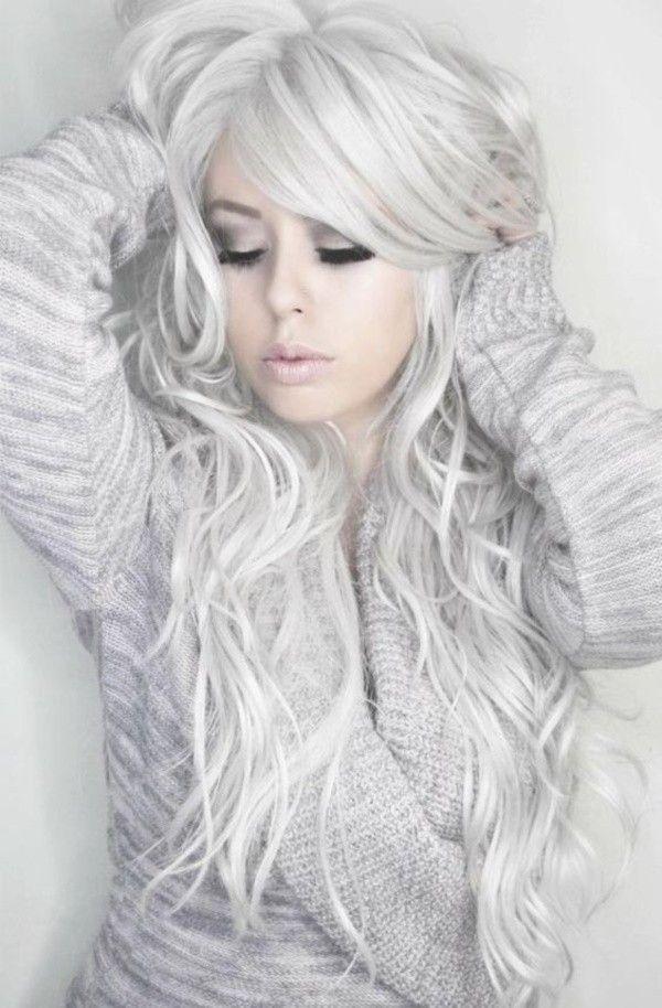 34 tonalità di capelli color argento   Acconciature grigie ...