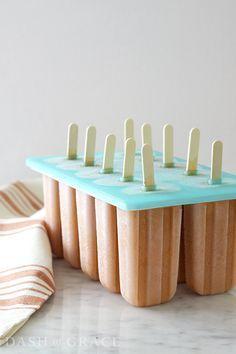 Thai Iced Tea Pops Recipe + the best popsicle mold from World Market on dashofgrace.com