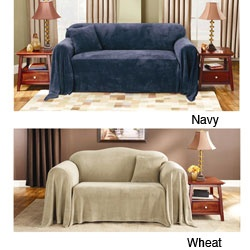 @Overstock - Make even the oldest sofa look new again with this stylish sofa throw cover. It fits a wide range of upholstered furniture. The polyester material makes cleaning this cover quick and easy.http://www.overstock.com/Home-Garden/Sure-Fit-Plush-Sofa-Throw-Cover/4312018/product.html?CID=214117 $38.49