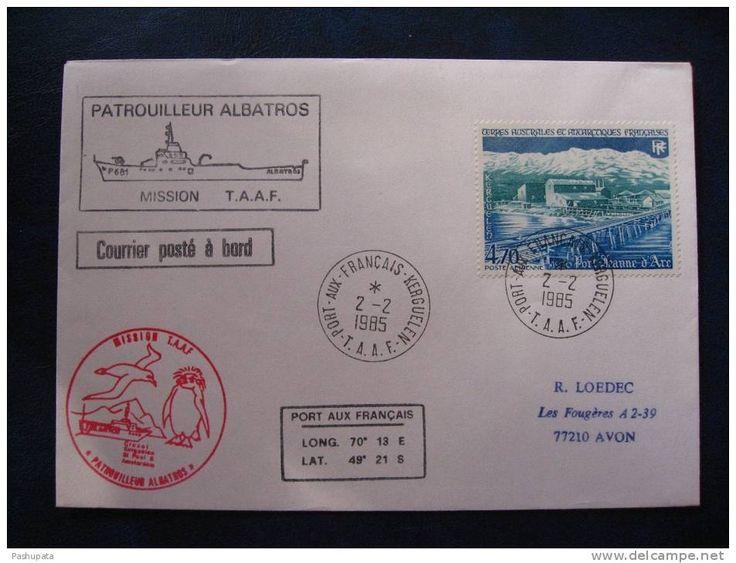 #TAAF PATROUILLEUR #ALBATROS - Courrier posté à bord - Cachet #Port aux Français #Kerguelen
