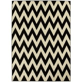 Shop for LYKE Home Hand-woven Black Chevron Area Rug (8 x 11). Get free shipping at Overstock.com - Your Online Home Decor Outlet Store! Get 5% in rewards with Club O!