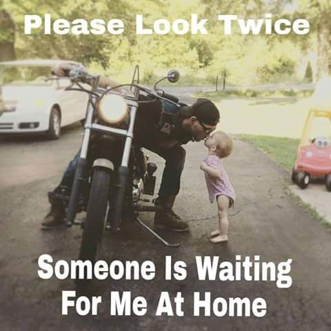 But the people riding the motorcycle need to be careful to and not drive around…