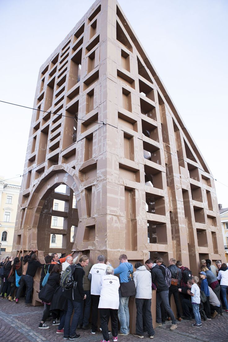 Raksa: French artist Olivier Grossetête has designed an artwork that uses simple materials, cardboard and tape, to construct skyscrapers more than ten metres in height. At this collective community effort, traditional power structures are given the heave ho and thinking big is encouraged.  Helsinki Festival and Helsingin Sanomat invite you to take part in our playful city planning scenario game. Co-production: EMMA – Espoo Museum of  Modern Art