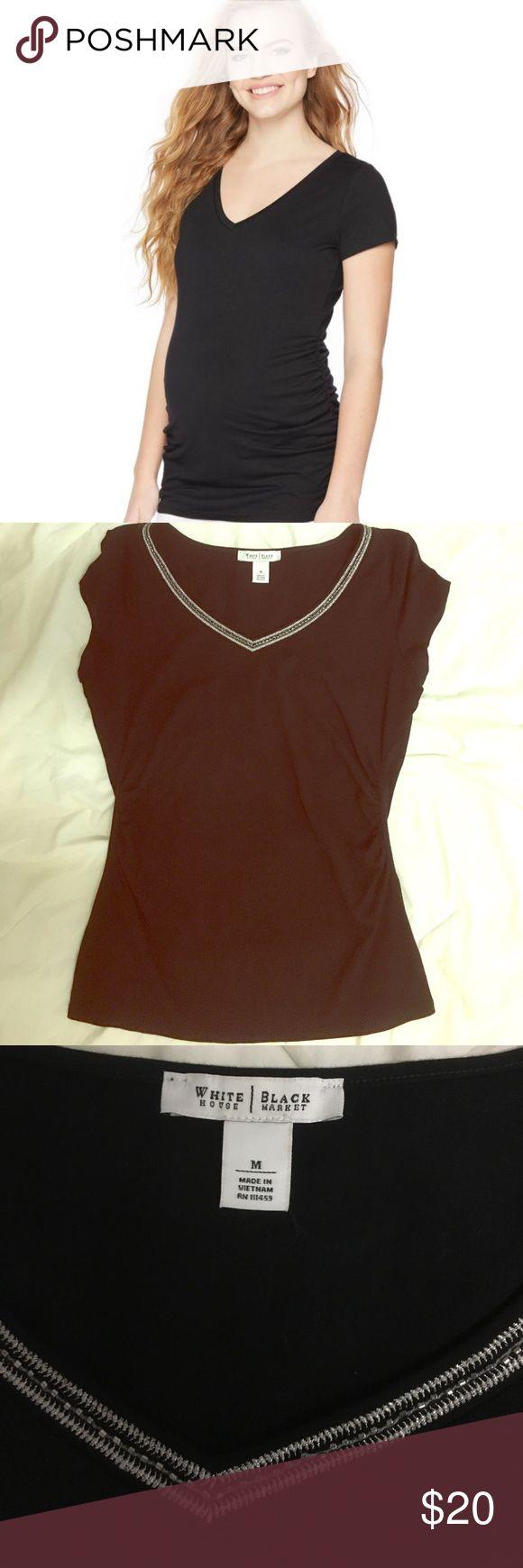 Black Maternity shirt Cotton nwot black house  Tops Tees - Short Sleeve