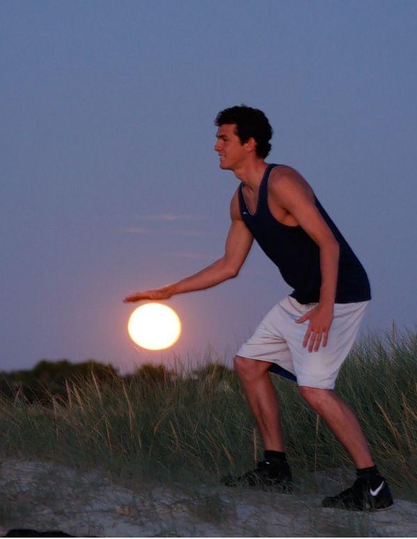 dribbling the moon