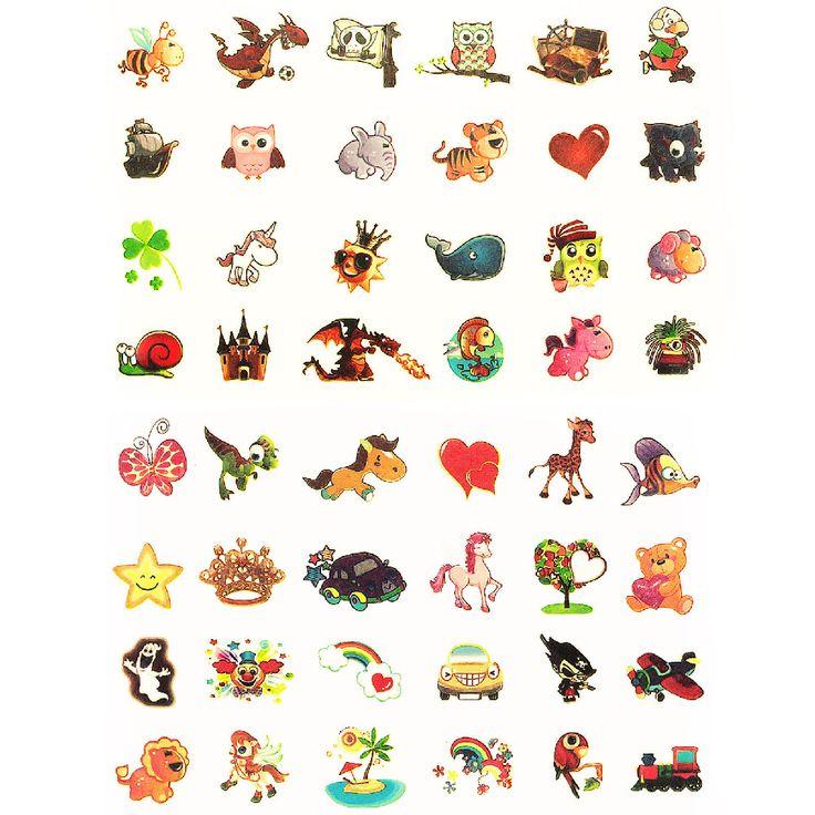 Temporäre Klebetattoos Kinder Leuchttattoo Set - verschiedene Motive in Spielspass / Basteln  • Tattoos
