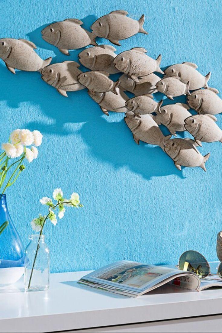 Mit Der Wanddeko Fischschwarm 62 X 28 Cm Aus Dem Hause Boltze