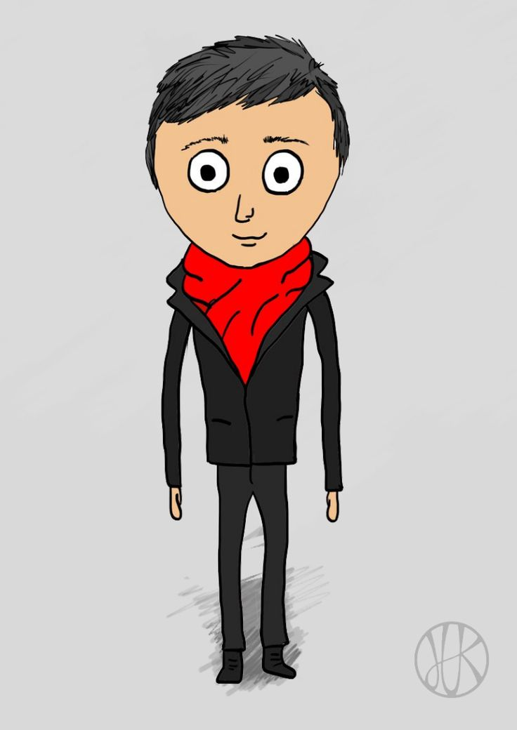 Drawing Man #2D #man #draw #drawing #paint #nice #cartoon #anime #animation #red #black #scarf