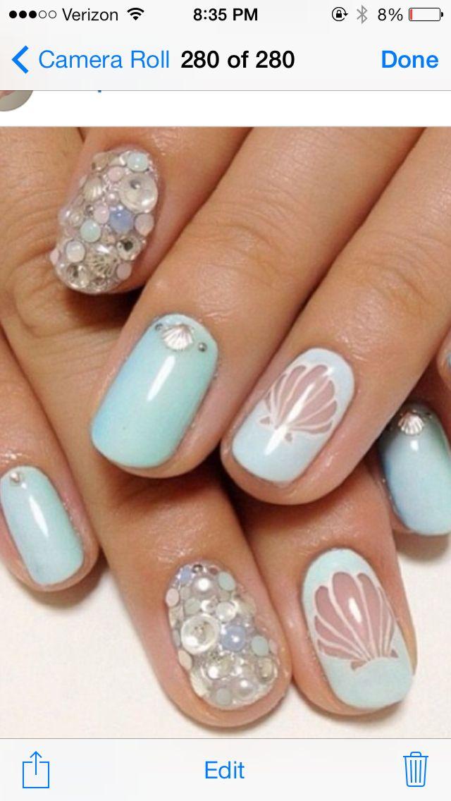 Summer beach nails! Love