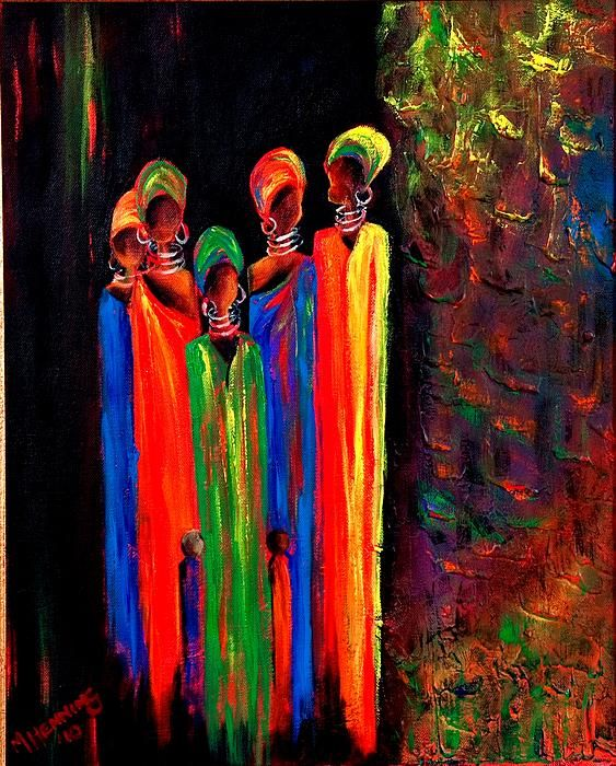 Proudly South African Women1 Painting - Proudly South African Women1 Fine Art Print. To both know and feel the correct answers when you Turbo Charge Read View. http://youtu.be/LyO3EkP1TdY