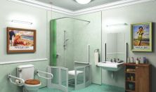 Find out what features can make a bathroom easier to use for someone with dementia