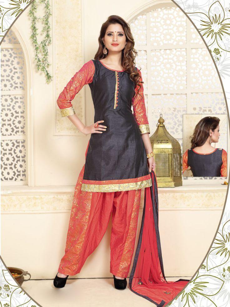 Black & Pink Color Readymade Patiala Salwar Suit - ClickOnBazar http://www.clickonbazaar.com/product/black-pink-color-readymade-patiala-salwar-suit/