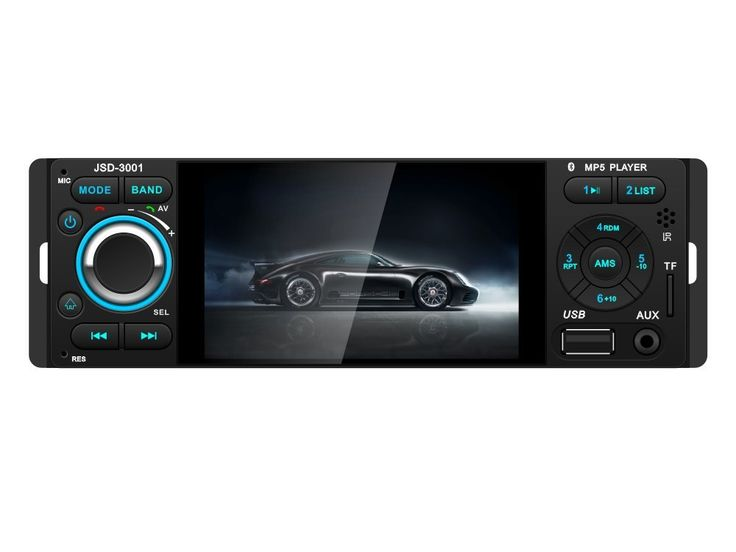 """Car Audio,UPSZTEC 4.1inch car radio,1 DIN Car Stereo system, MP3, MP4, MP5,Media Players, Car Electronics, In-Dash car players,Remote control(3001). 4.1"""" HD Screen Supprot: RMVB/RM/FLV/3GP/MPEG/DIVX/XVID/DAT/VOB/AVI/MP4. Bluetooth Hands Free & Bluetooth Audio Streaming - play music and apps like Spotify/Pandora wirelessly. Backing-up Priority: Support Back Rear Camera, and automatically switch to it when hanging to reverse gear. Support USB Disk, SD/MM Card and Front AUX In. 50W X 4…"""