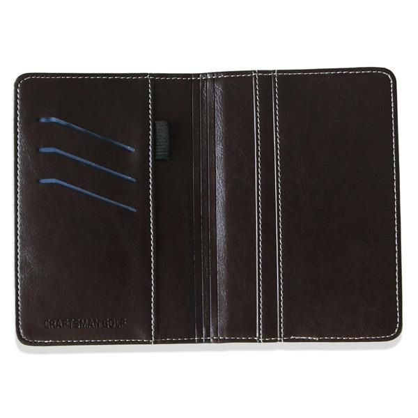 Side-Flip Leather Golf Score Card Holder, 2 color