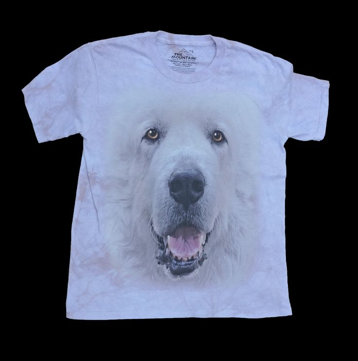 """""""Great Pyrenees Big Face T-shirt in Adult Sizes"""""""