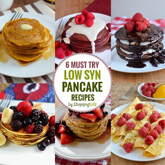 6 Must Try Low Syn Pancake Recipes - just in time for Pancake day!! Which one of these amazing pancake recipes will you choose?