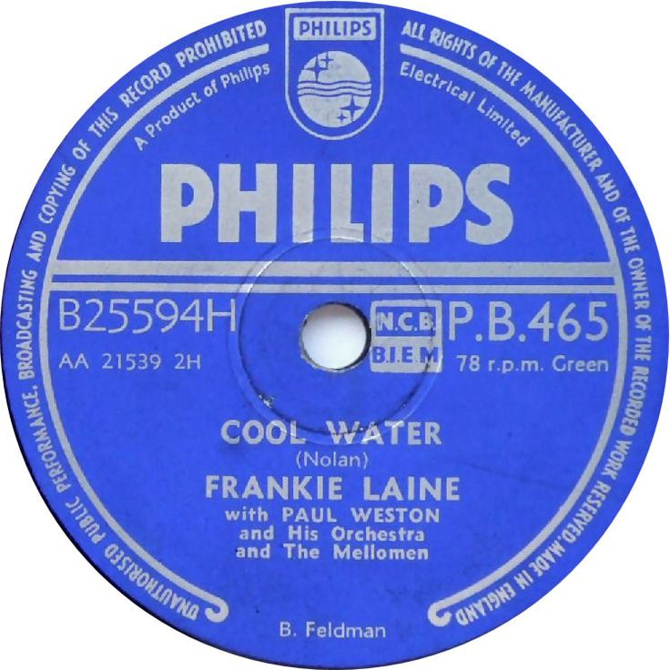 Frankie Laine - Bubbles / The Tarrier Song
