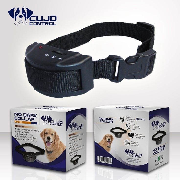 Cujo Control Anti Bark Collar-Best No Bark Collar for Small Breeds, Medium and Large Dogs-Fully Adjustable Electric E Collar with Adjustable Sensitivity Control Settings-Best Puppy Training and Dog Obedience Training Dog Bark Collar-Water Resistant Anti B #TipsForDogObedienceTraining #dogobediencetraining