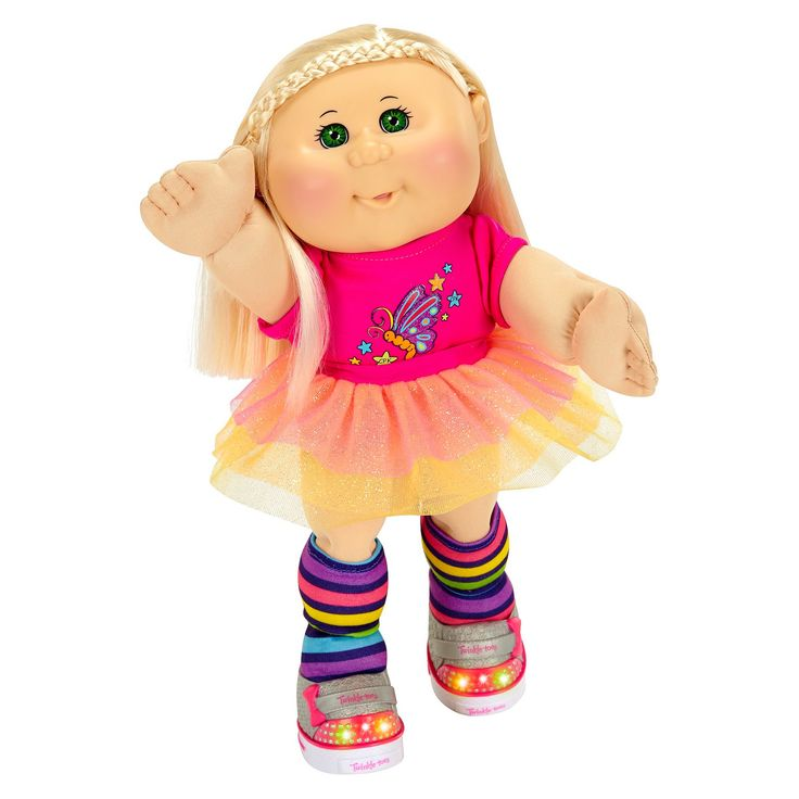 Cabbage Patch Kids Twinkle Toes 14 Kid, Blonde, Green Eyes, Caucasian