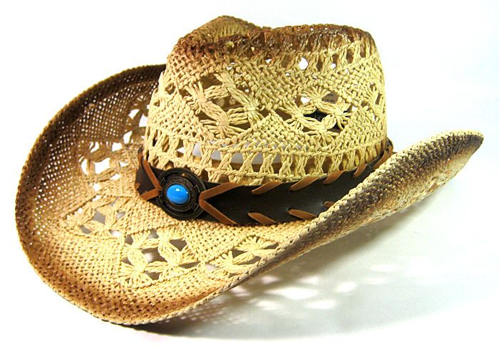 Leader Or Milani Headwear Western Womens Black Rimmed Cowgirl Hat With Concho