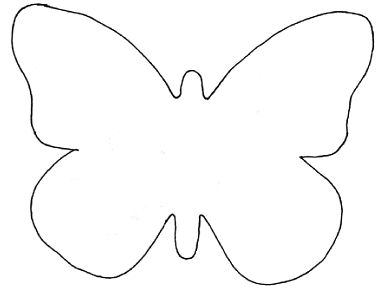 Butterfly template for garland