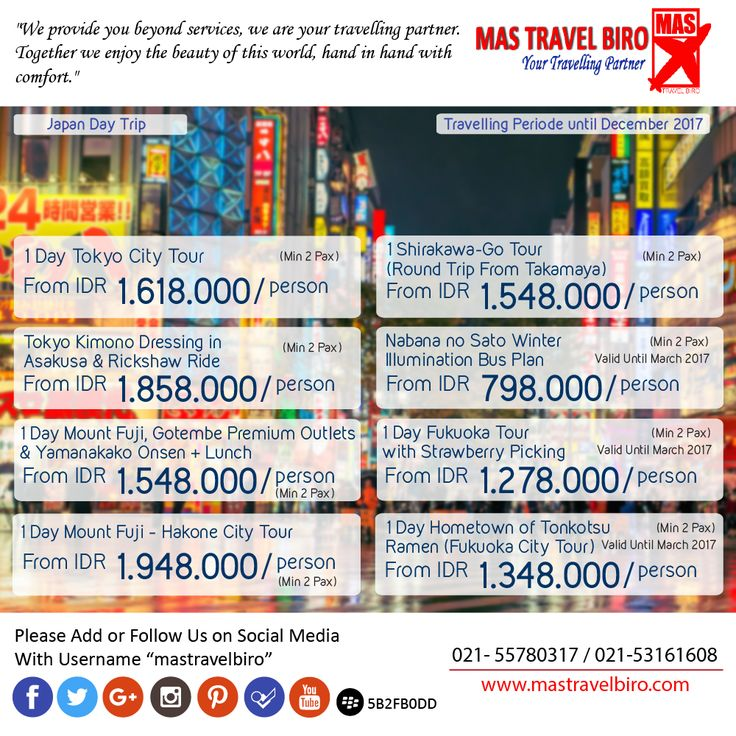 More Japan Day Trip , Book Now ! ;) #mastravelbiro #promo #japan #trip