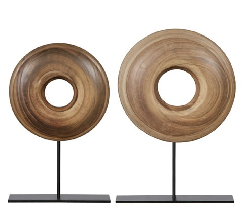 Wood Disc Stand (set of 2)