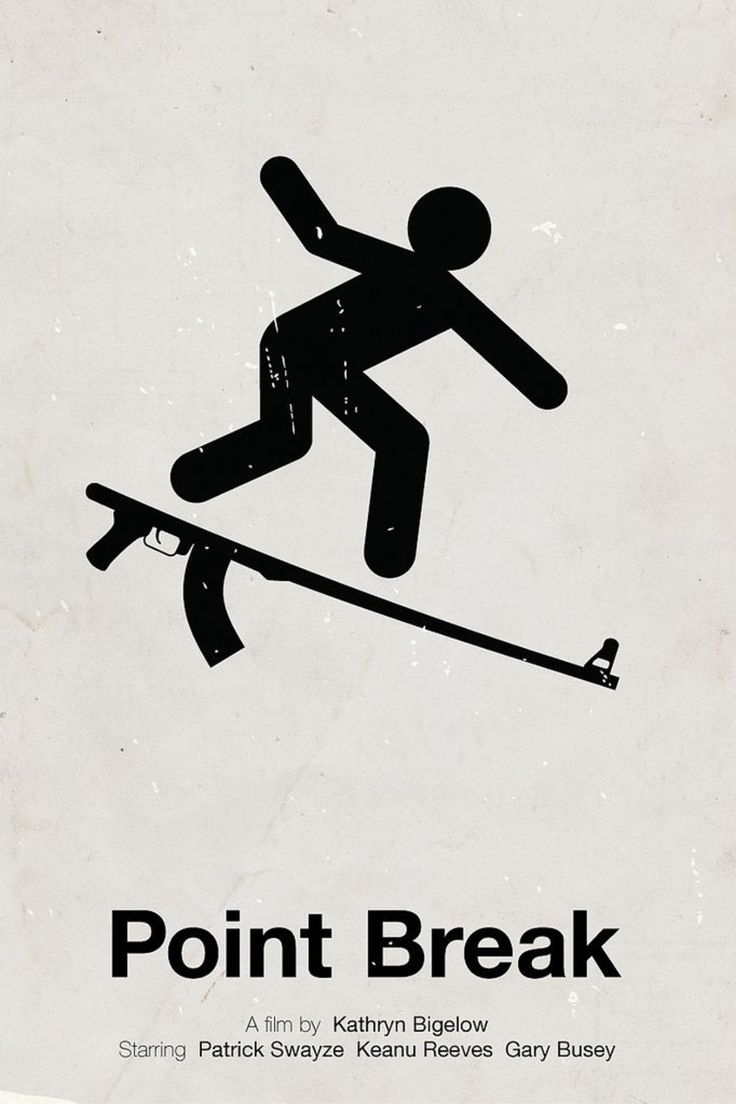 Point Break - Minimalist poster