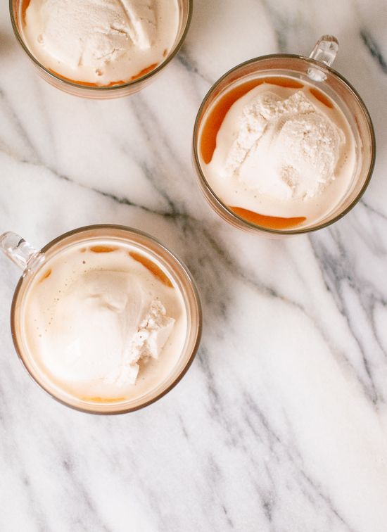 Chai affogato - a light and simple, hot and cold dessert. cookieandkate.com